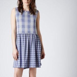 Topshop blue/gray plaid dress size 4